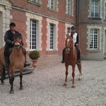  Front of Chateau after our ride.