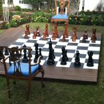  Giant chairs and chessboard