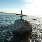 How do they do it? - Local Inuit stone balancing