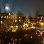  Full Moon over Keizersgracht Canal.