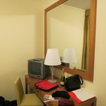 Room, mirror, TV..