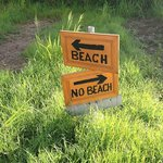  Very descriptive sign pointing to the beach