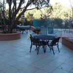  Here&#39;s the patio and hot tub area.