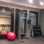 BEAUTIFUL Fitness workout area, and what do you know?  Everything WORKS!