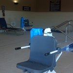 Handicap ammenities for both the whirpool and pool.  Is not a standard for all hotels.