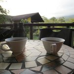  Morning coffee on the room&#39;s private (though near others) porch