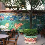 Wonderful mural on garden wall