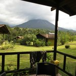  The more likely view of Arenal in the clouds