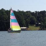 Sailing on Weiss Lake