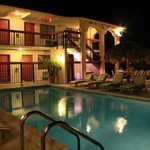 Scandia Lodge Pool at Night