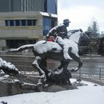  The Pony Express Statue out front.
