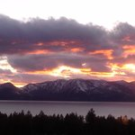  Sunset over Lake Tahoe as seen from our room.