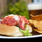 Lobster Roll on the Patio