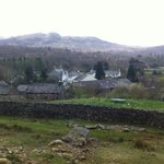 view of the village from the fells nearby.