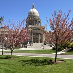  Spring in bloom at Idaho State Capitol Building in Boise, ID