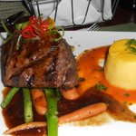 beef fillet at the Time-Out Cafe