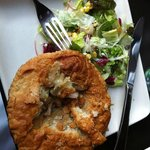 Yummy chicken pot pie and a delicious salad