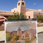 Sketch of a nearby church