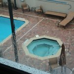 pool out side our window