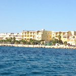  View of the hotel from the water