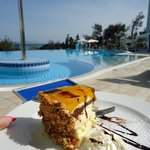  cake in the pool area