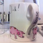 One of the cute mugs in the rooms :)