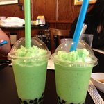 honeydew bubble teas