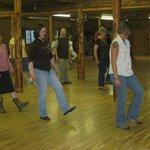 Line dancing at the Community House