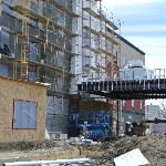 front view of construction  of New HAmpton Inn