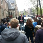  Bastiaan giving us the low down on Amsterdam on the Walking Tour