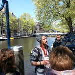  Bastiaan telling us about the Canals on the Walking Tour
