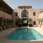 Central courtyard and pool