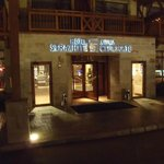  The entrance to Hotel Strazhite