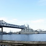  The Braga Bridge and USS Massachusetts