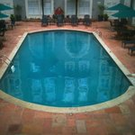 heated saltwater courtyard pool---so nice at the end of the day
