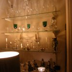  Some Antique Glass ware on display