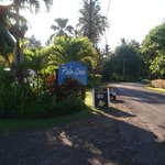 Entrance to palm grove Resort