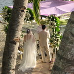  Sunset wedding at Dive Solana