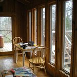  Windows all around cabin provide beautiful views