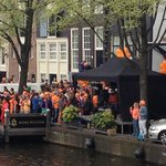 Queens' Day party outside the Hotel Pulitzer!