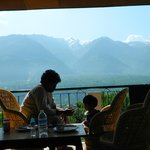 Morning breakfast in Mountain facing rooms