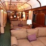 Inside the lounge car