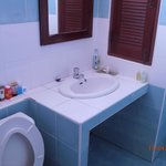 Washbasin area with simple amenities