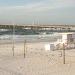 The beach behind the boardwalk on okaloosa island