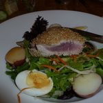 Ahi tuna cooked just right