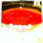 Grape & pomegranate martini