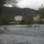View of the hotel from across the water on The Birnam Walk