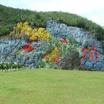  Wall Painting on limestone cliff