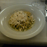 Vegetarian pasta with goat's cheese