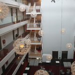 the beautiful atrium where we played our concert